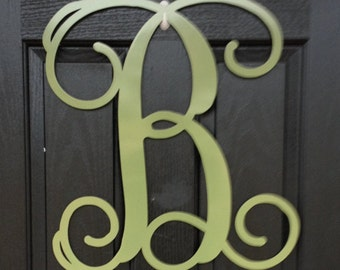 Large metal letters on etsy a global handmade and vintage for Large metal monogram letters