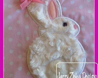 Bunny 51 Applique Embroidery Design - Easter applique design - rabbit applique design - bunny applique design