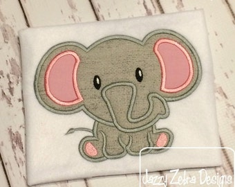 Elephant 53 Applique embroidery Design - zoo Applique Design - safari Applique Design - elephant Applique Design