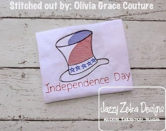 Independence Day Sketch embroidery Design - 4th of july Sketch embroidery Design - uncle sam Sketch embroidery Design