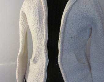 Cardigan Hoodie Sweater Sarsaparilla Womens Small Junior sz S Sweater with Hood Popcorn Sweater