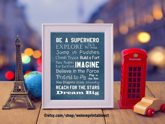Be a Superhero Quote