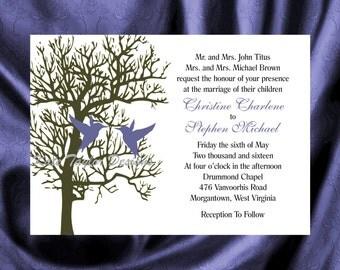 Tree  Bird Invitation & RSVP   Tree Wedding Invitation  Tree-Bird Wedding Invitation  Love Bird Invitation - Tree Design 23