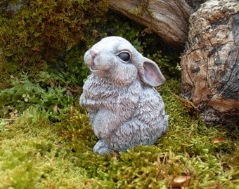 Lovely Rabbit Statue,Bunny Garden Statue,Outdoor Woodland Rabbit,Rabbit Memorial  Statue,Hare