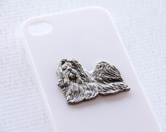 Shihtzu Apple iPhone 7 or  Silver Plated White Plastic Smartphone Cover iPhone 6 iPhone 7 Case iPhone 7 Plus Case