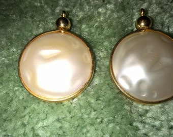 Vintage Judy Lee Faux Pearl Clip on Earrings