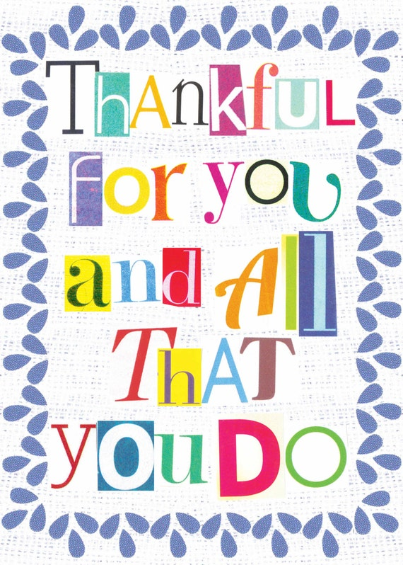 Items similar to Thank You For All You Do Card on Etsy