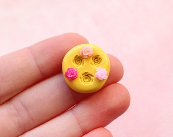 TINY Rose Mold Kawaii Flower Embellishment Flexible Food Safe Oven Safe Resin Polymer Clay Candy