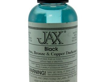 Jax Black Darkener for Copper, Brass & Bronze 2oz Bottle  (PM9004)