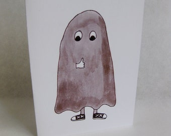 Father's Day Card - Ghoul / Ghost / Cool Dad - Handmade and printed from original ink and gouache illustration