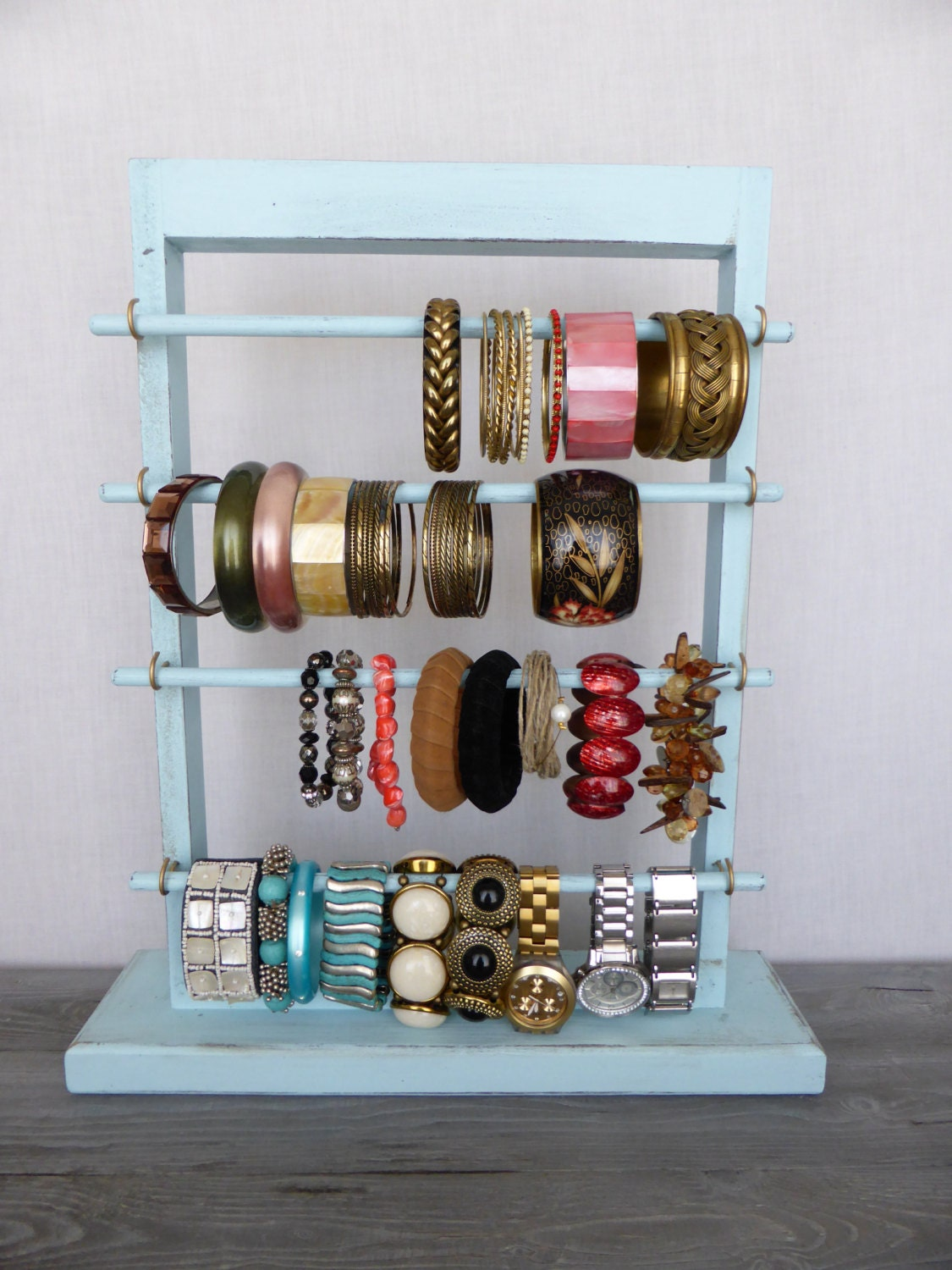 Shabby chic bracelet holder standing jewelry display for Jewelry displays