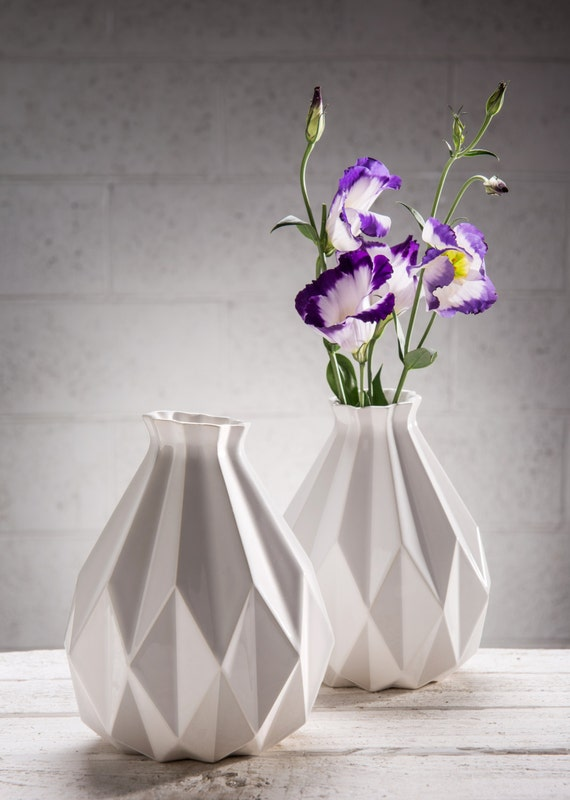 Ваза оригами из бумаги