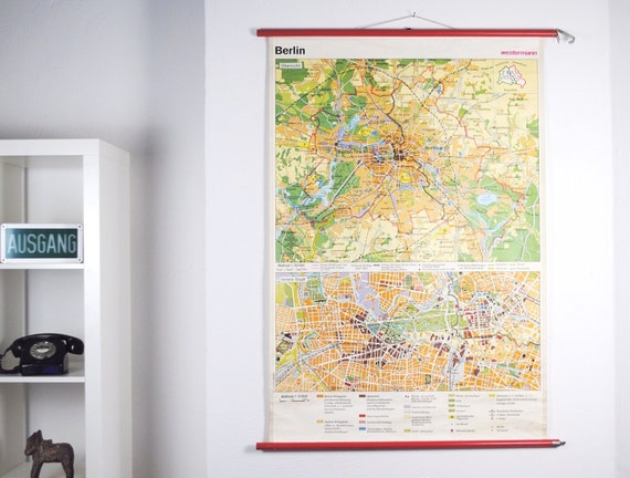vintage 1970s berlin georg westermann city by germanzeitgeist. Black Bedroom Furniture Sets. Home Design Ideas
