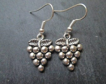 Cluster of Grapes Charm Earrings