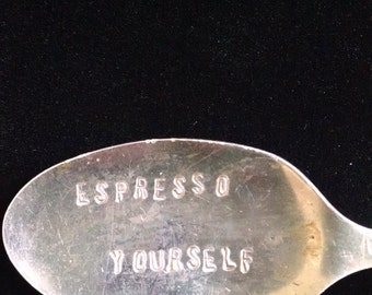 Hand Stamped Coffee Stir Spoons
