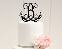 Deer Horn Wedding Cake Topper