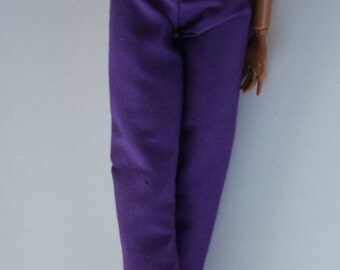 11.5 inch doll clothes -purple pants