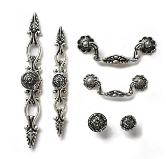 dresser knobs pulls drawer pull handles antique silver black kitchen cabinet handles knobs door. Black Bedroom Furniture Sets. Home Design Ideas