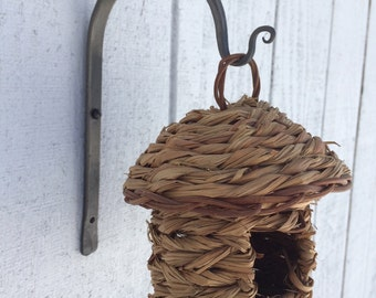 Wrought Iron Plant Hanger, small plant hanger, lantern hanger, mason jar hanger, lantern hook, mason jar sconce