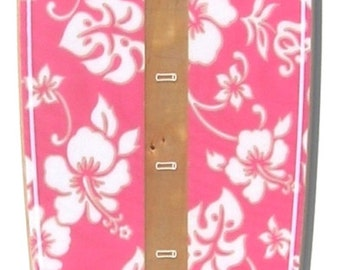 Pink Hawaiian Print Surfboard-shaped growth chart