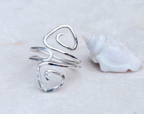 un anneau de pouce bague en argent r glable anneau de fil. Black Bedroom Furniture Sets. Home Design Ideas