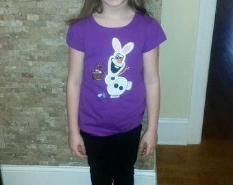 Custom Boutique Olaf Easter Bunny Tee