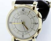 Jaeger LeCoulte Memovox Men's Alarm Wrist Watch 10K GF