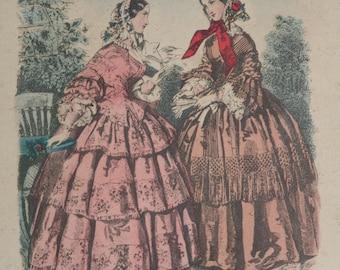1800s fashion etsy for Miroir des modes prints