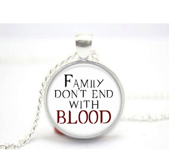Supernatural Quotes Family Don T End With Blood: Items Similar To Supernatural Quote Family Don't End With