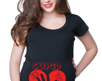 Cupid In Progress T-Shirt Maternity Shirt Baby Announcement Tee Shirt Valentine's Day Shirt