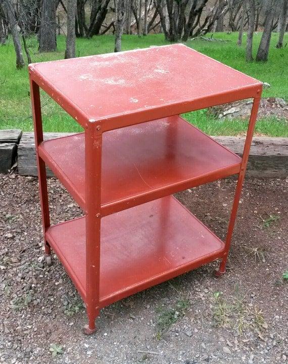 Rusty Industrial Cart Vintage Casters Metal By Makingmidcenturymod
