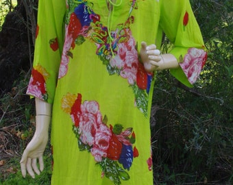 Floral Tunic Cotton Tunic Fashion Tunic Womens Tunic Maternity Long Tunic Summer Dress Tunic Tops Tunic Dress Boho Tunic Ethnic Dress