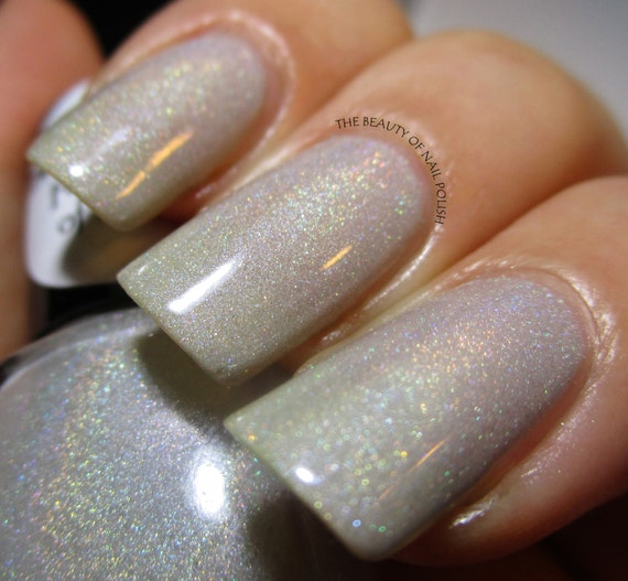 Fairest of All - Light Taupe Nude Holographic Nail Polish - Nude Nail Polish with Holo Pigment - Snow White Winter 2014-15 Collection