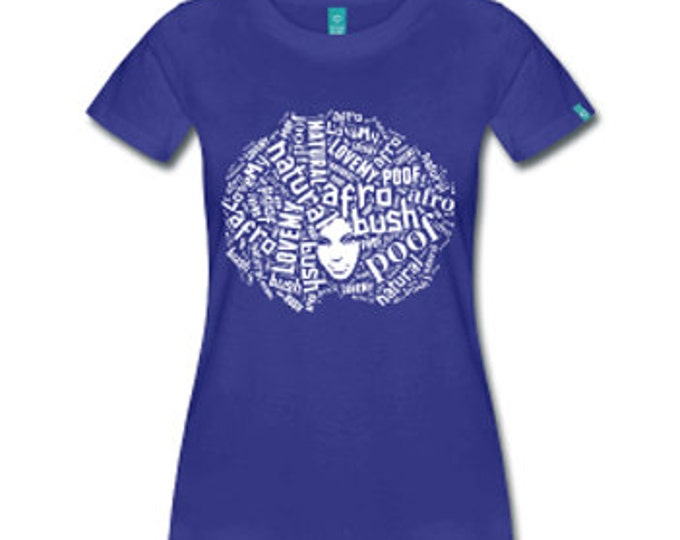 Love My Afro Women's Fitted T-Shirt - Royal Blue
