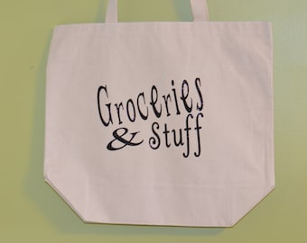 Groceries and Stuff Canvas Tote Bag