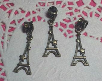 40x13mm Antique Bronze Paris Eiffel Tower Dangle Pendant/Charms - 3 pieces