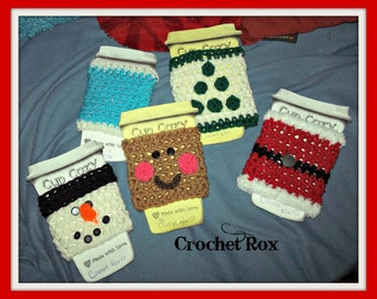 Crocheted Coffee Cup Cozy, cup warmer, travel mug cozy, tea cup cozy,  Buy in bulk and save!!!!