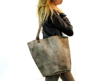 Sale!!! Brown leather bag, Large Leather bag, Supple soft Distressed leather bag