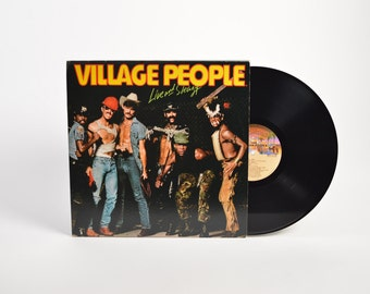 """VILLAGE PEOPLE - """"Live and Sleazy"""" vinyl record"""