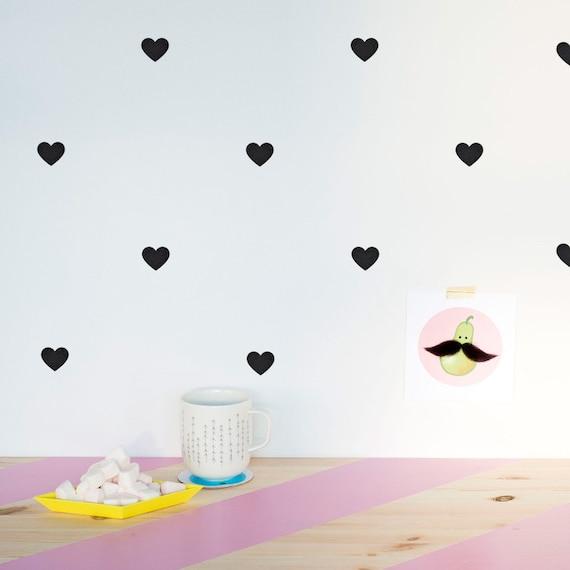 Corazones vinilo decorativo mini corazones vinilo para for Stickers para pared de dormitorio