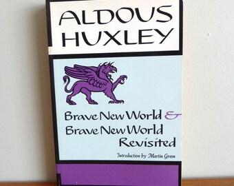 1965 Brave New World & Brave New World Revisited - Aldous Huxley - Vintage Novel