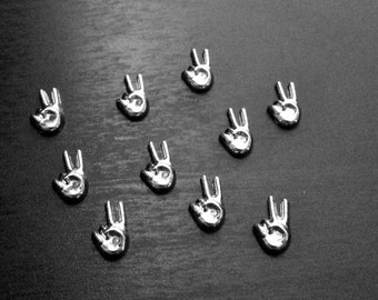 Peace Sign Floating Charm for Floating Lockets-Sign Language-Gift Idea for Woman