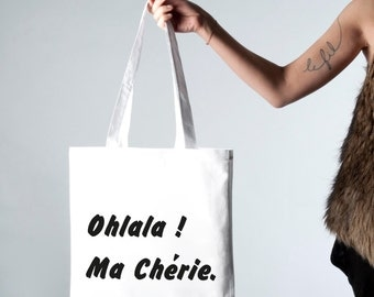 "Tote bag ""My cherie"" shoulder"