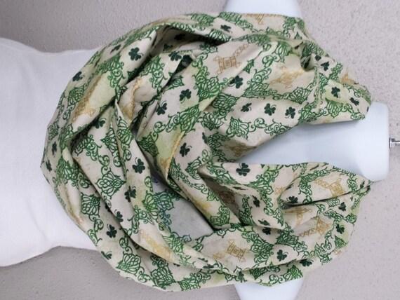 st patricks day celtic shamrock infinity scarf by trendystop