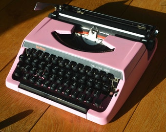 Pick A Color - Custom made Pink brother 220 deluxe - Working Vintage Typewriter