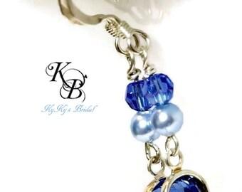 Bridal Earrings, Crystal Earrings, Wedding Jewelry, Birthstone Jewelry,Sterling Silver Earrings, Crystal and Pearl Earrings, Bridal Jewelry