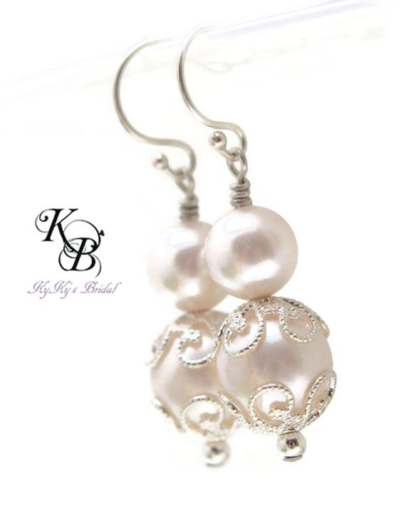 Wedding Gift For Bride Jewelry : ... Bridal Jewelry, Pearl Earrings, Bride, Wedding, Bridal Shower Gift