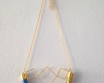 Three Diamonds Rope Necklace