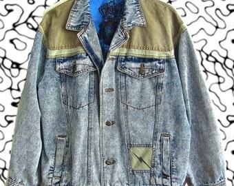 Vintage Bolt Denim Jacket sz M