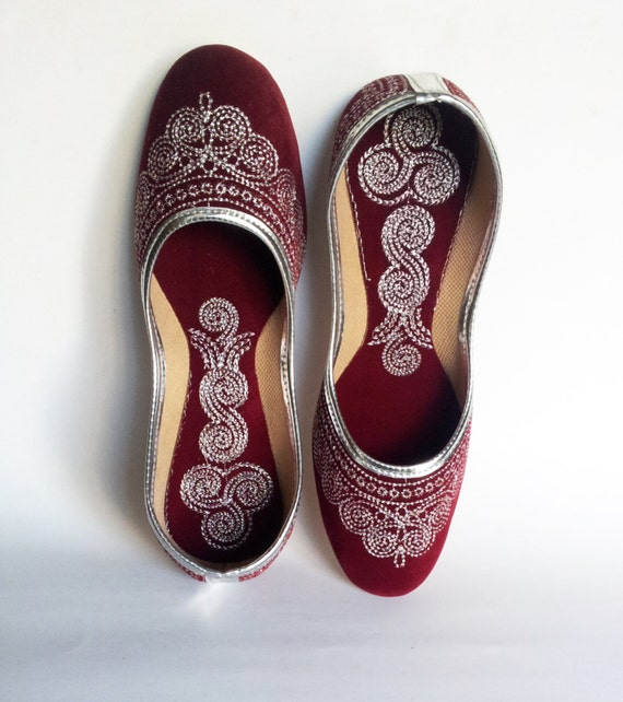 Maroon Wedding Shoes/US Size 7.5/Velvet By Magicstring On Etsy